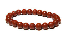 Red Jasper Quartz Crystal 8mm Natural Gemstone Elastic Stretch Bead Bracelet