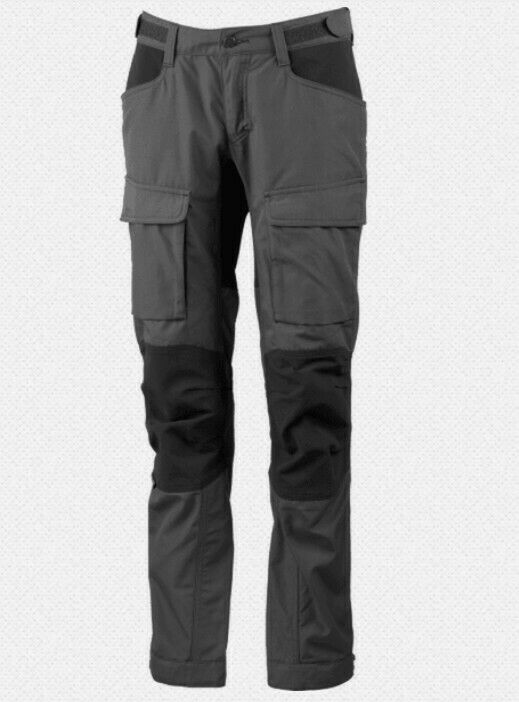 Lundhags Authentic II Pant Women's Granite Hiking Trousers with Stretch Inserts