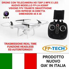 DRONE QUADRICOTTERO RADICOMANDATO LCD 4CH X2 2,4Ghz CAMERA HD VIDEO FOTO USB LED