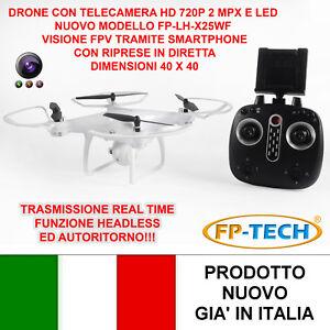 DRONE-QUADRICOTTERO-RADICOMANDATO-LCD-4CH-X2-2-4Ghz-CAMERA-HD-VIDEO-FOTO-USB-LED