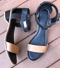 Nordstrom  DV Dolce Vita Black And Tan Sandals Strappy Block Heel size 10 $130