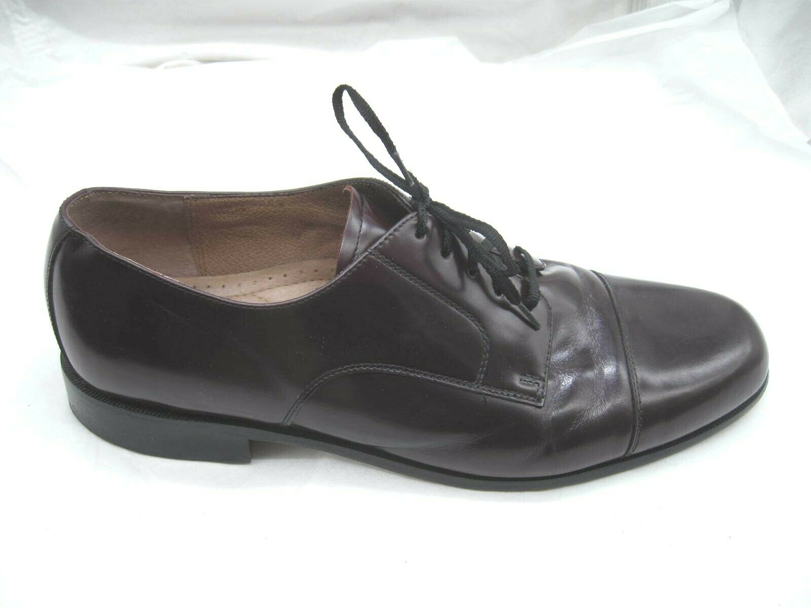 Bostonian Classics Burgundy maroon oxfords Mens dress captoe shoes 45 12M 20398