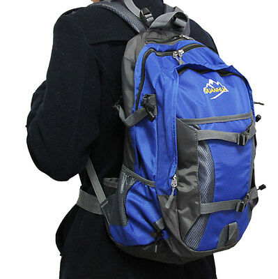 Men's High Capacity Backpack Shoulder Bag Camping Hiking Travel School Bag 35L
