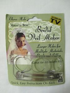 Details About Bridal Veil Do It Yourself Craft Costume Miracle Bow Maker No Sewing Hair Clip