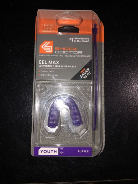 Shock Doctor GEL Max Convertible Mouth Guard Purple Youth 6163Y 733313035048 for sale online