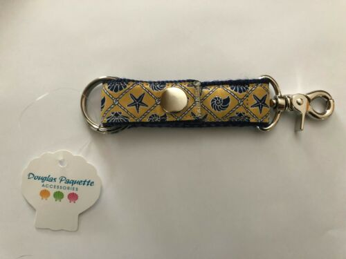 Shells Tan New W//Tags Douglas Paquette Valet Ribbon Key Chain