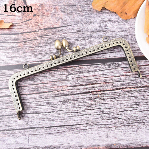 Bronze DIY Purse Handbag Handle Coin Bag Metal Kiss Clasp Lock Frame Handle 9UK