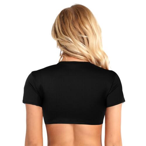 Women Sleeveless Mesh Crop Top Cotton Slim Vest Tank Tops Shirt Blouse Clubwear