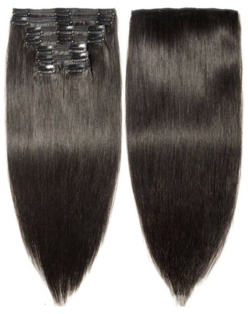 S Noilite Clip In Human Hair Extensions 100 Real Remy Thick True