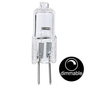 LUSION-Twin-Pack-2-single-bulbs-Halogen-Bi-Pin-GY4-G4-10W-12V-Dimmable-30005