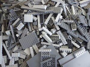 Lego-100-pieces-Gris-Pierres-plaques-special-pierres-collection-liasse-pieces-kg