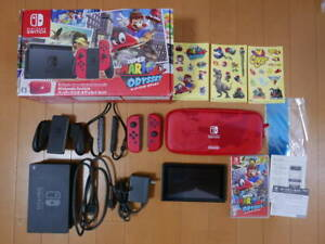 Nintendo-Switch-Super-Mario-Odyssey-Edition-Console-System-Set-Japanese-ver-Used
