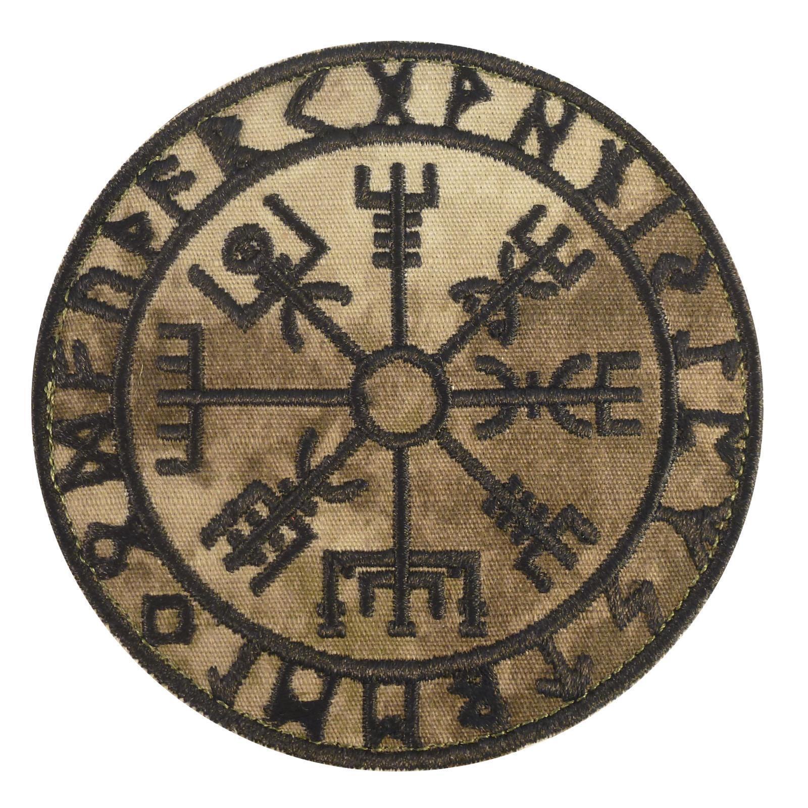Raven Banner Viking Odin God of War subdued ACU embroidered morale hook patch