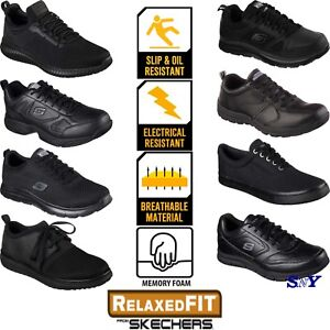 c4a6bd52ef6 Image is loading Skechers-Work-Shoes-Slip-Electrical-Chemical-Resistant -Black-