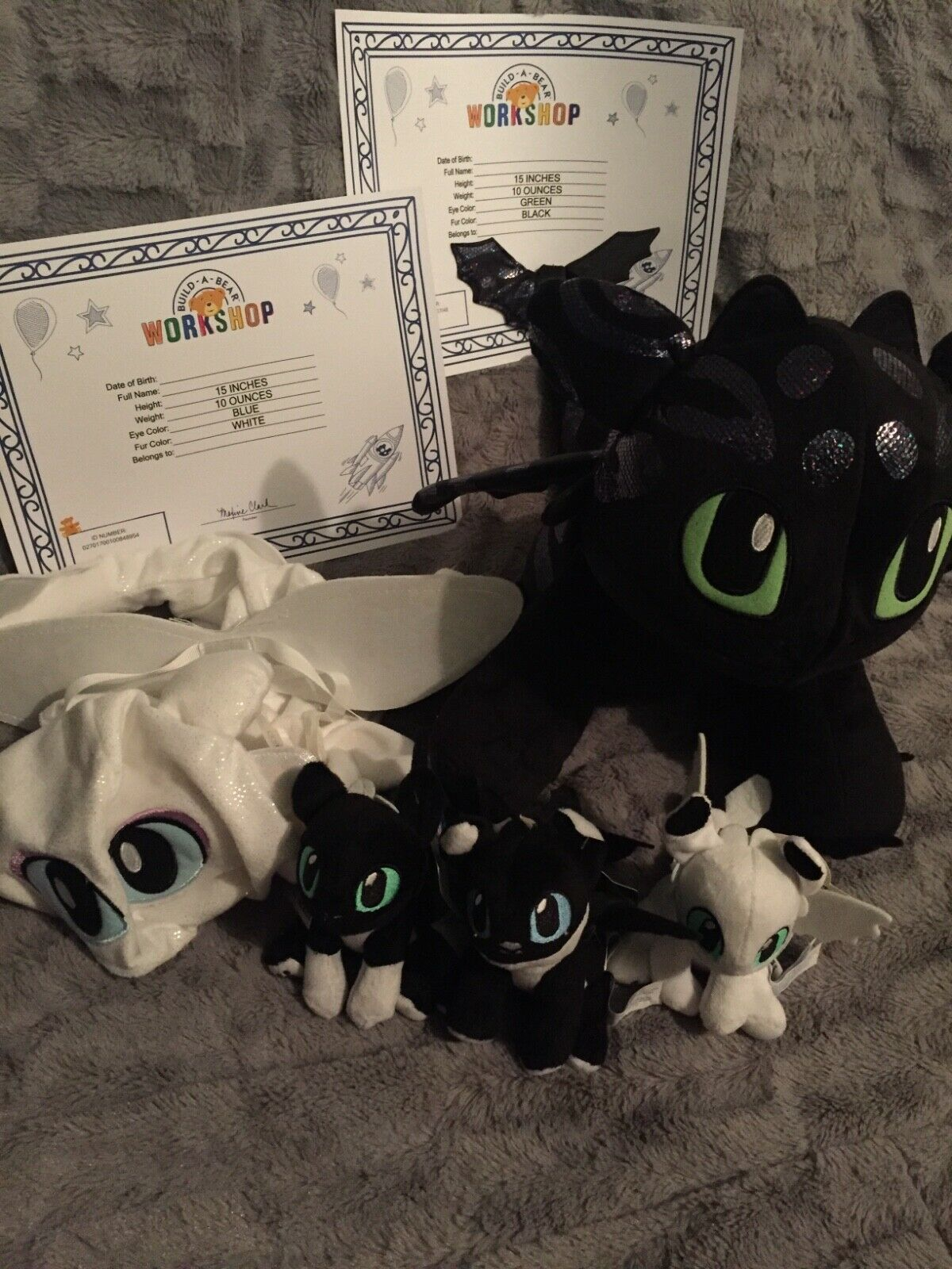 Build A Bear How To Train Your Dragon Limited Edition Nightlights Set Family