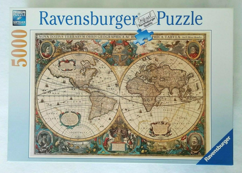 Antique World Map 1000 Piece Jigsaw