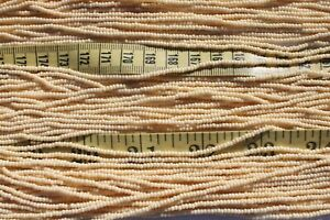 11-0-Opaque-Tan-Czech-Glass-Seed-Beads-Crafts-Jewelry-Making-Hank