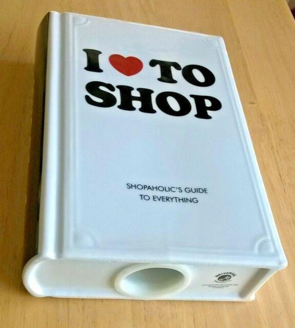 I Love To Shop Ceramic Money Box Shopaholic's Guide Book Piggy Bank Universal En