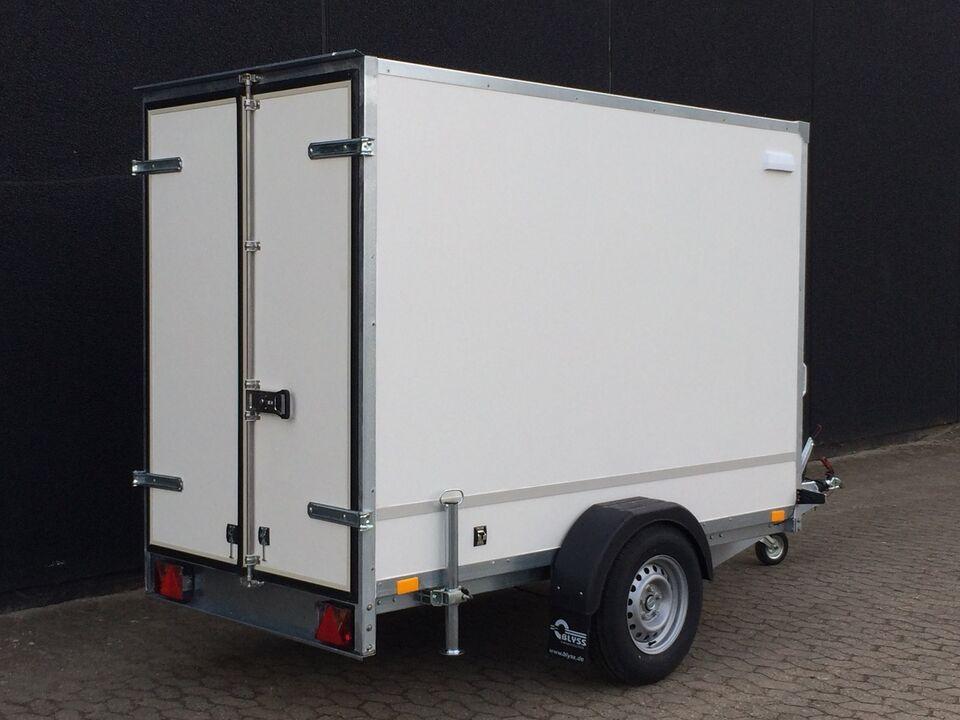 Cargotrailer, BLYSS 262 x 130 x 180 cm. M/DØRE (type HK),