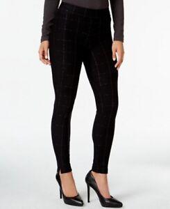 25255ac44c7d5f HUE Leggings Sz XS Black Windowpane Print Loafer Legging Cotton ...