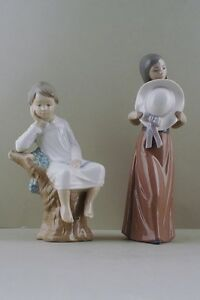 Two-Lladro-figurines-in-porcelain