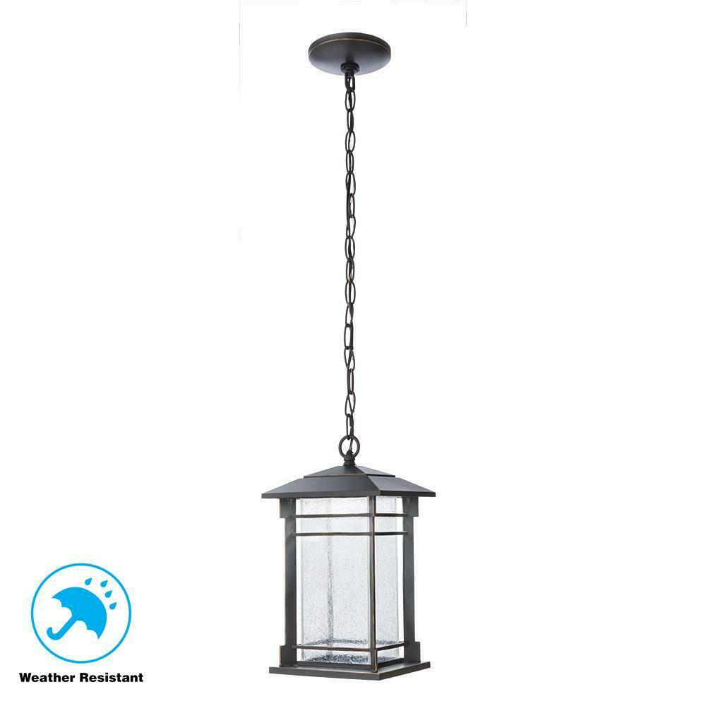 Oil Rubbed Bronze Integrated Led Hanging Lantern By Home Decorators Collection For Sale Online