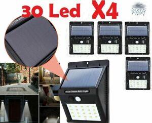 4pc-30-LED-Lampe-Solaire-Projecteur-Capteur-Detecteur-Mouvement-Jardin-Exterieur