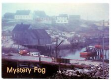 Mystery Fog Postcard Peggy's Cove Nova Scotia Canada Water Boats Unposted Vtg