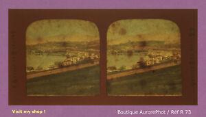 STEREO-VIEW-PANOPTIQUE-COLOR-SUISSE-VERNEX-MONTREUX-amp-LAC-GENEVE-1880-R73
