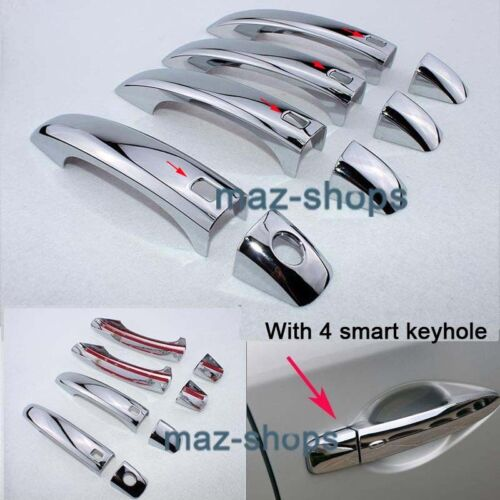 CHROME DOOR HANDLE COVER TRIM MOLDING FIT FOR 09~13 AUDI Q5 08-11 A4 B8 S4 A5