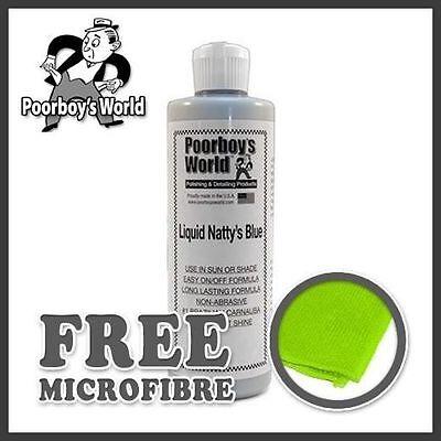 Poor Boys Liquid Nattys Blue 32 oz (946ml) PB-LNB32 & Microfibre