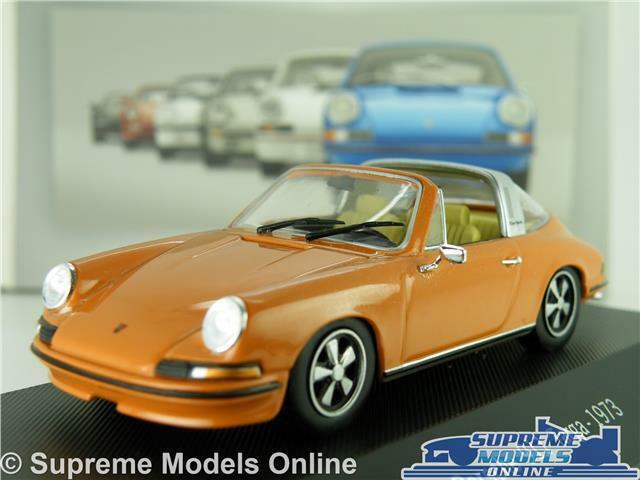 PORSCHE 911 TARGA modellllerL bil 1973 1 43 SKALE IXO ATLAS samling SPORTS brun K8