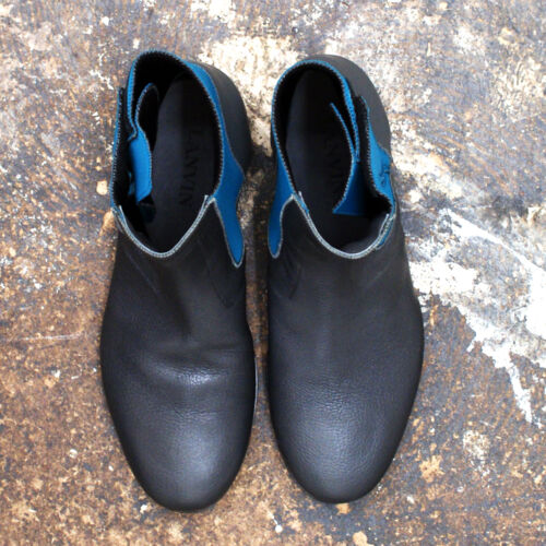 Lanvin Neoprene £730 Rrp With Boots Grey Genuine New Leather Bnib Turquoise dyYw1dHq