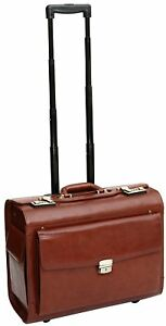 S-Babila-Briefcase-with-Wheels-Pilot-Style-for-Luggage-of-Hand-Leather-of-Flower