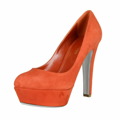 Sergio Rossi Suede Leather High Heel Platform Pumps Shoes Sz 7.5 8.5 9