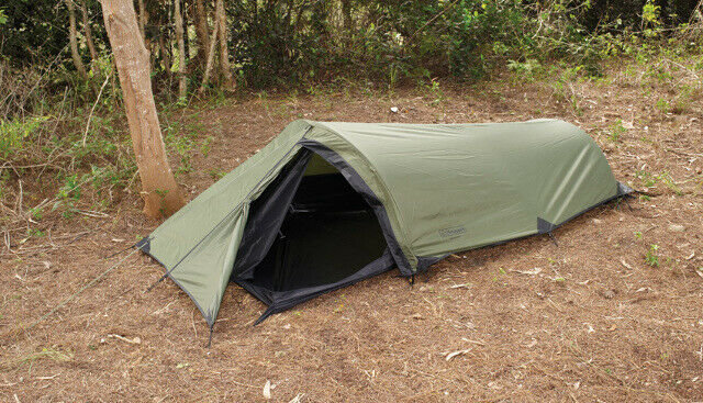 Snugpak Ionoshere A low profile, one person tent. Single entry point door. Flysh