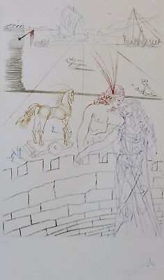 "Salvador Dali Signed//Hand-Numbered Ltd Ed /""Helen of Troy /""Litho Print unframed"