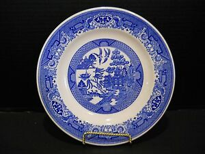 1-One-Dinner-Plate-10-034-Blue-Willow-Ware-dinnerware-by-Royal-China-Ironstone