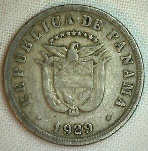 1929-PANAMA-5-CINCO-Centesimos-Moneda-Niquel-Cobre-Niquel-YG-KM-9-P