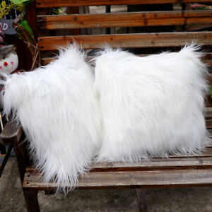 Fluffy-Faux-Fur-Pillow-Case-Soft-Plush-Cushion-Cover-Throw-Sofa-Bed-Home-Decor