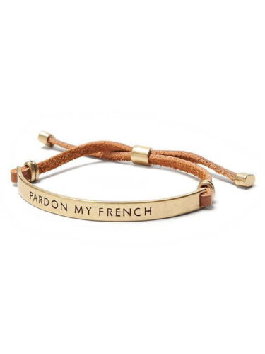 Banana Republic Idiom Pardon My French bracelet NWT $39.99 black