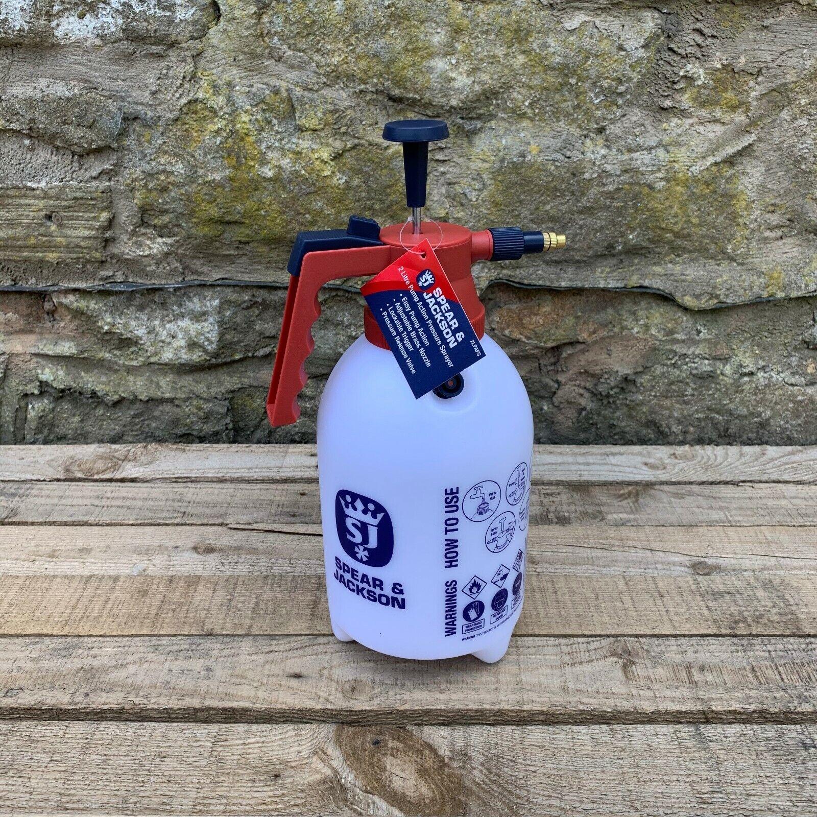Spear & Jackson Garden 2 Litre Pump Action Pressure Sprayer - 2LTR
