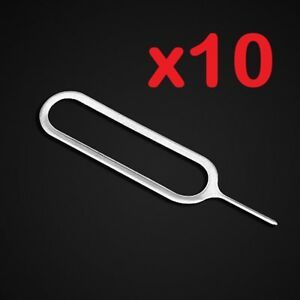 10x Sim Card Tray Ejector Eject Pin Opener Tool for iPhone, Samsung, etc.