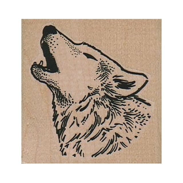 Wild Animal Tribal Wolf Rubber Stamps Wood Stamps Rubber Stamps Rubber-Stamp