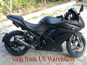 Details About Matte Black Complete Injection Fairing For 2008 2012 Kawasaki Ninja 250r Ex250