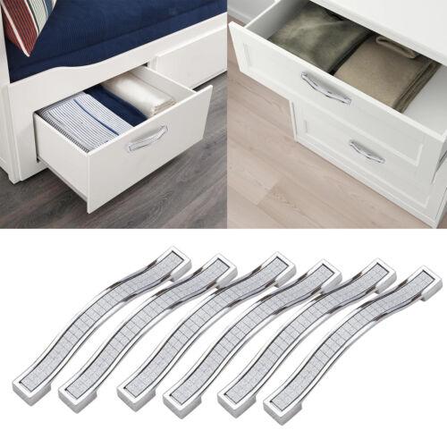 Drawer Pulls Handle Bling Crystal Dresser Cupboard Closet Cabinet Wardrobe Door
