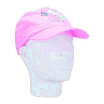 Regatta Funtime Kids Girls Baseball Peaked Cap Pretty Design Hat Pink Age 2-6yr