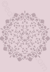 Mandala Stencil Lace Vintage Template Paint Furniture Card making Crafts DL20