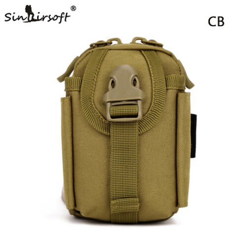 Mens Tactical Molle Pouch Belt Waist Pack Bag Military Fanny Pocket Army Camping
