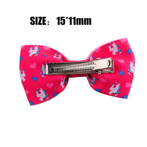 Kids Unicorn Bowknot Hairpins Hair Clips Girls Barrette Children Hair Accessory
